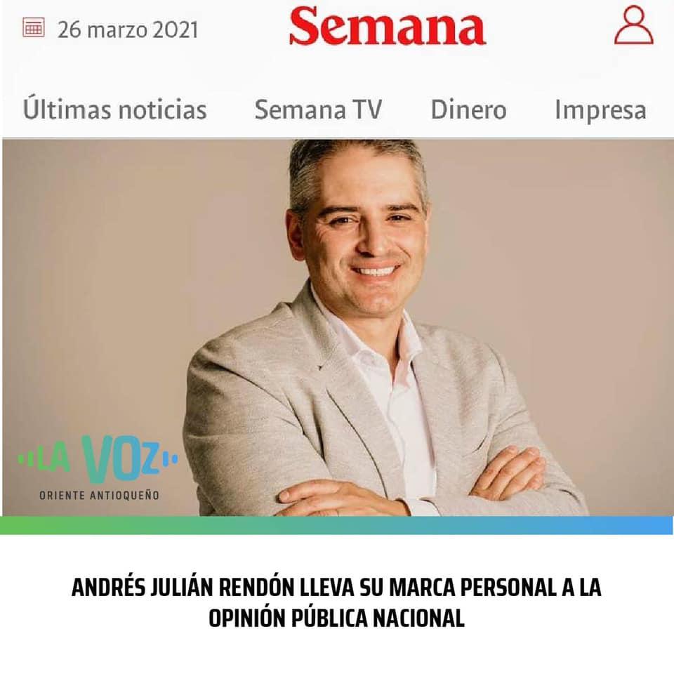 Andrés Julián Rendón Cardona trabaja intensamente en su marca personal