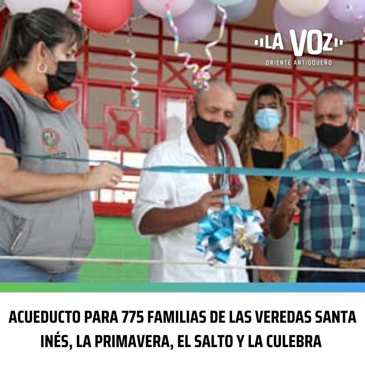 Acueducto para 775 familias de las veredas Santa Inés, La Primavera, El Salto y La Culebra