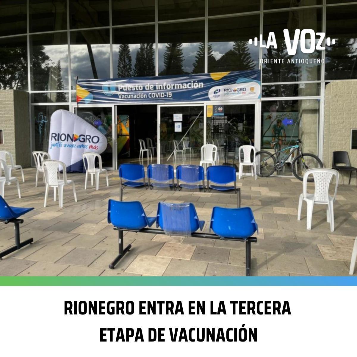 Rionegro entra en la Tercera Etapa de Vacunación