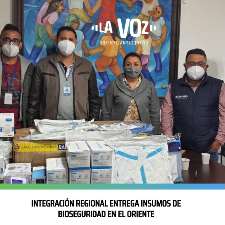 Integración Regional entrega insumos de Bioseguridad en el Oriente