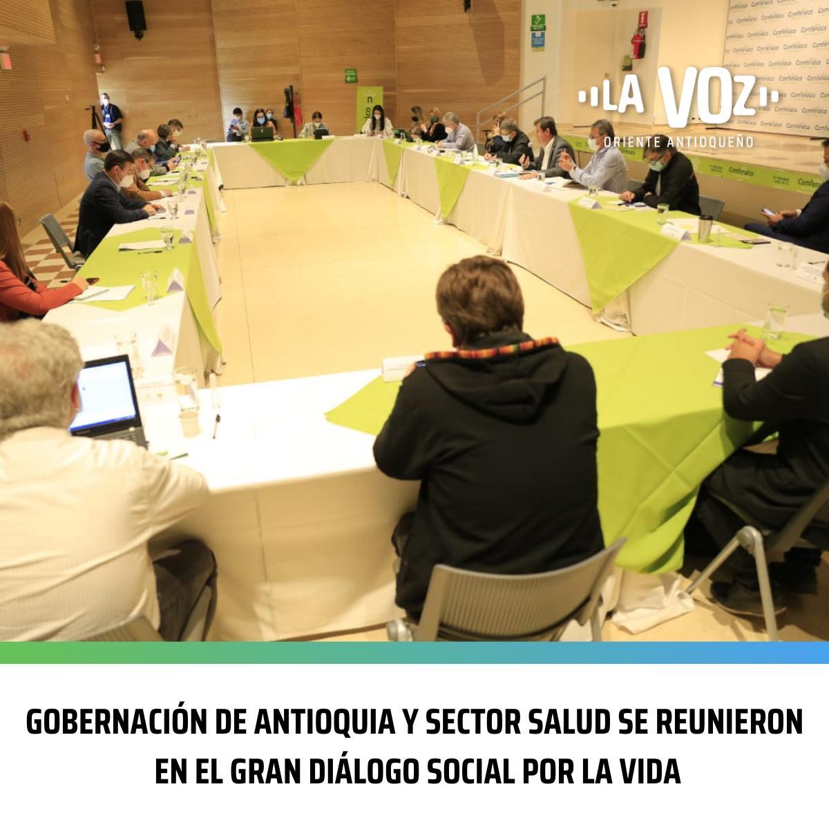 Gobernación de Antioquia y el sector salud se reunieron en el Gran Diálogo Social por la Vida