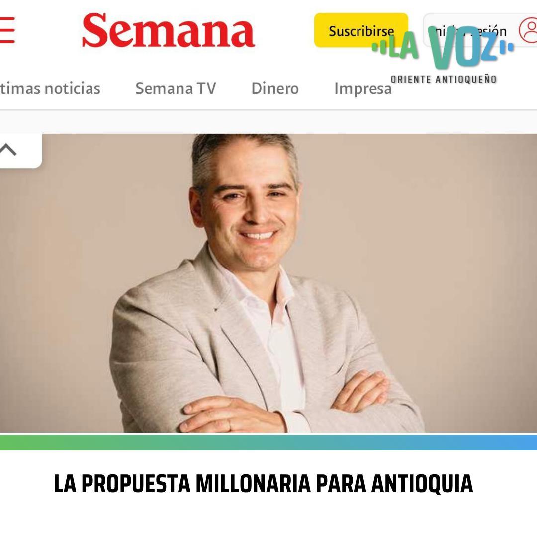 La propuesta millonaria para Antioquia