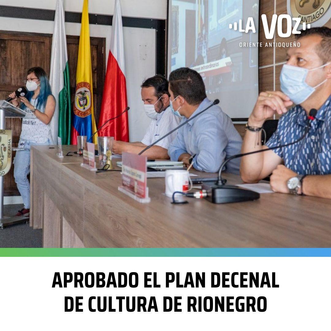Aprobado el Plan Decenal de Cultura de Rionegro