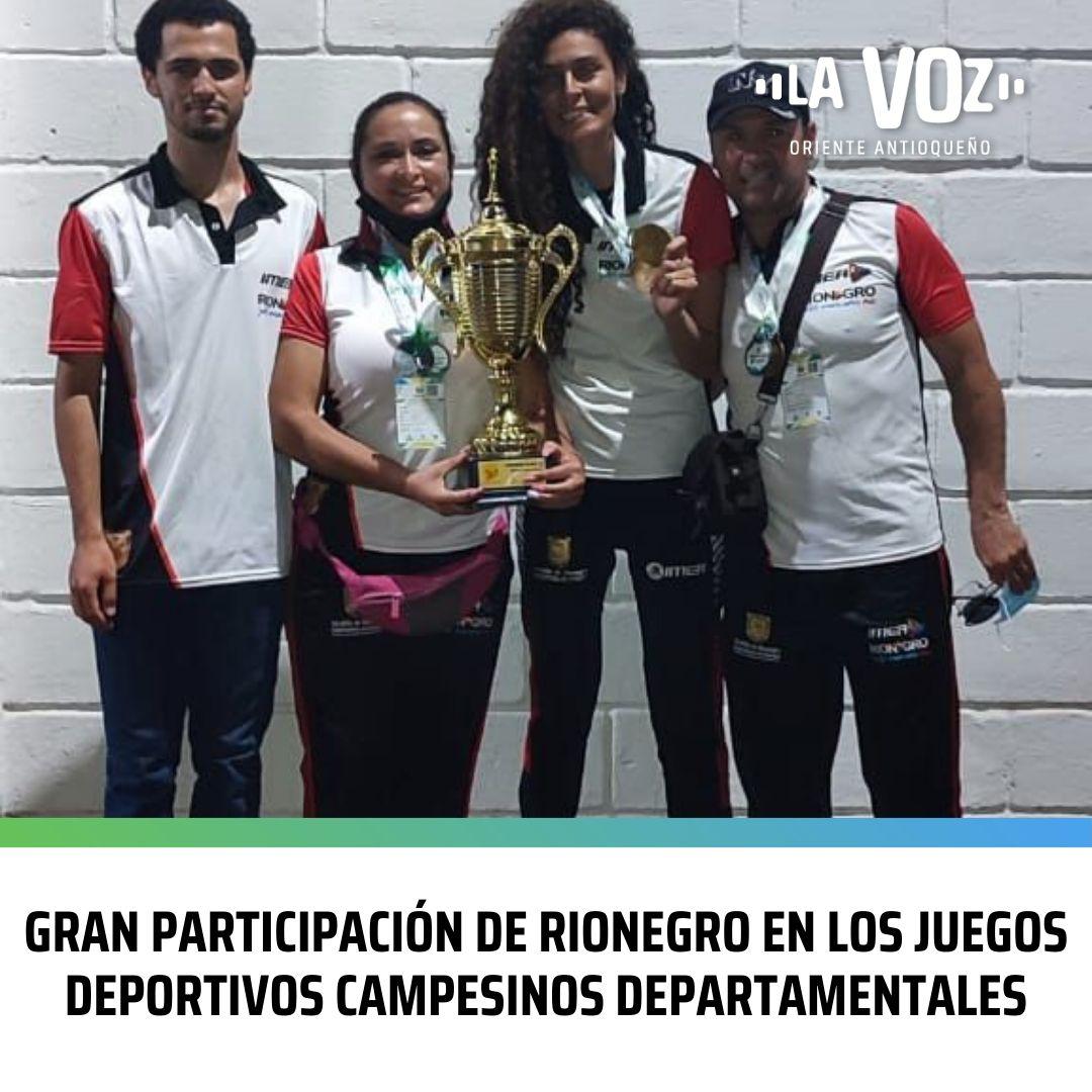 Gran participación de Rionegro en los Juegos Deportivos Campesinos Departamentales