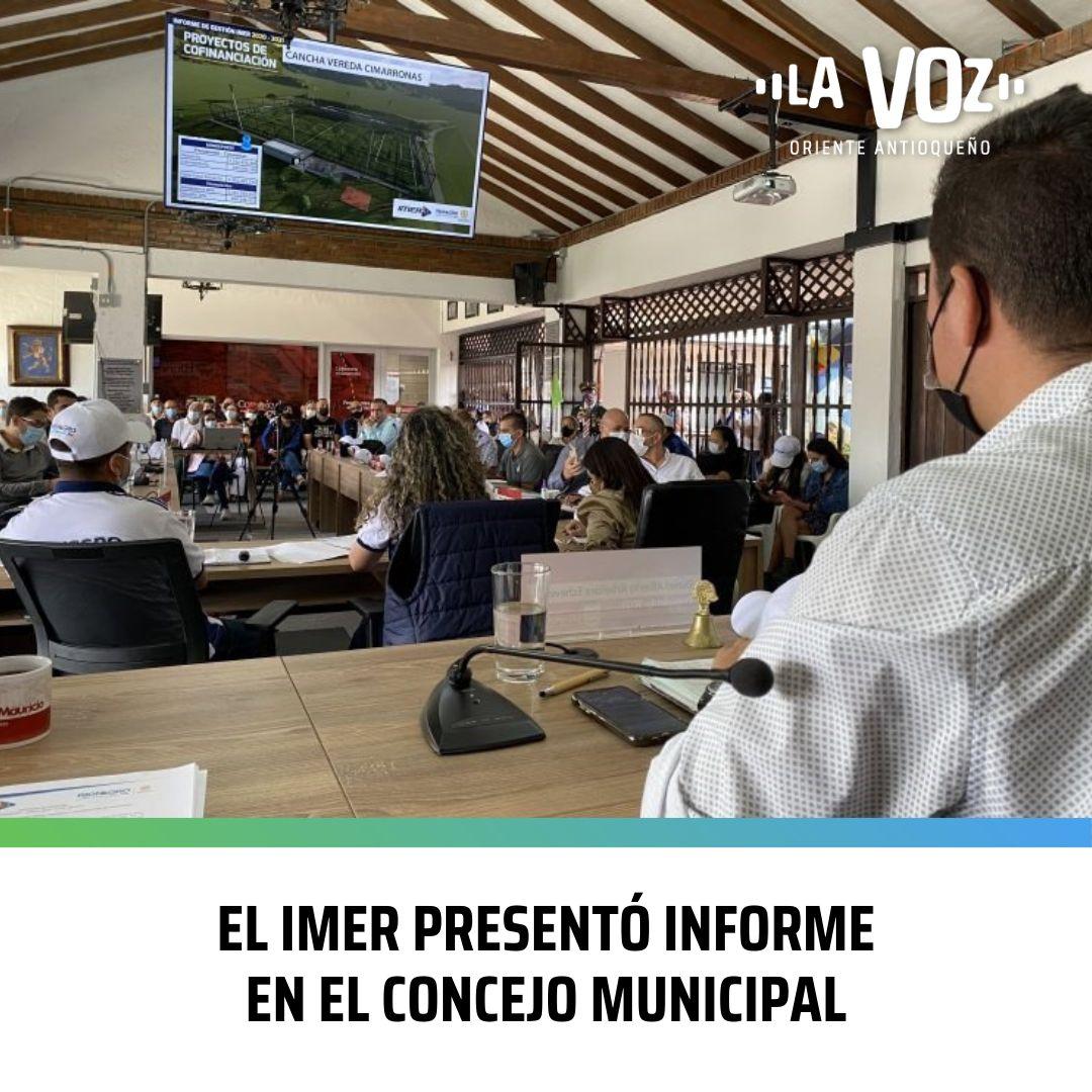 El IMER presentó Informe en el Concejo Municipal