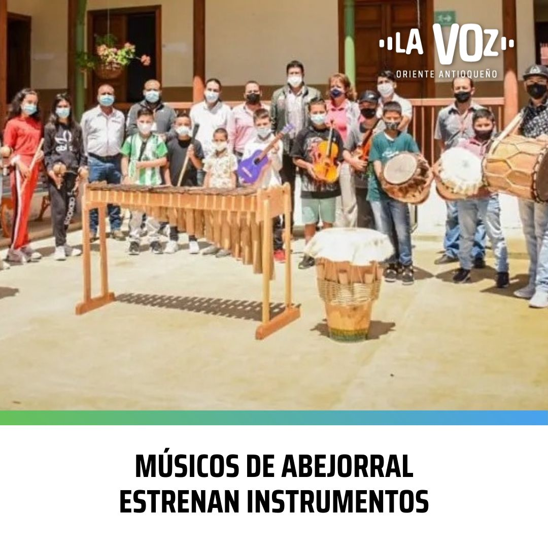 Músicos de Abejorral estrenan Instrumentos