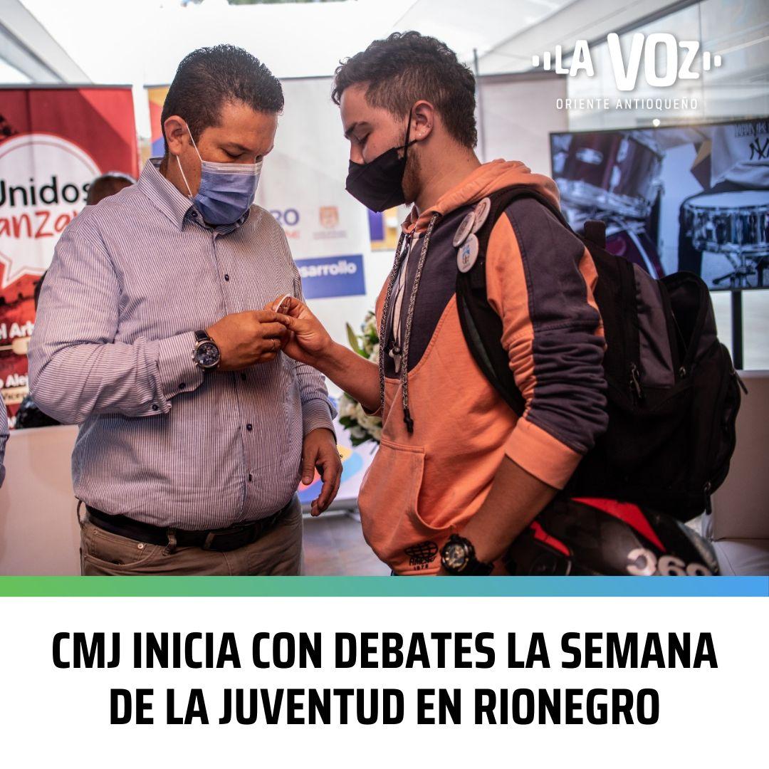CMJ inicia con debates la Semana de la Juventud en Rionegro