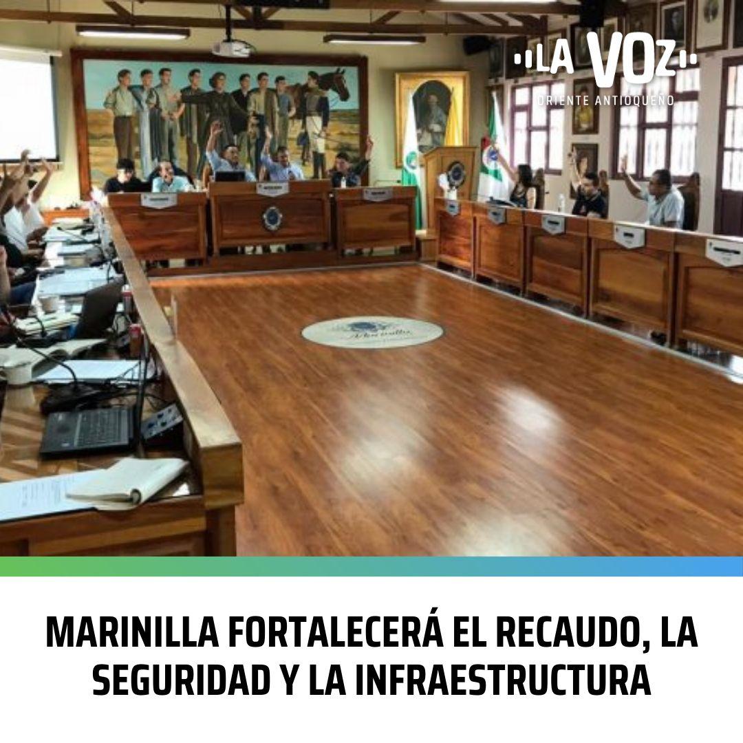 Marinilla fortalecerá el Recaudo, la Seguridad y la Infraestructura